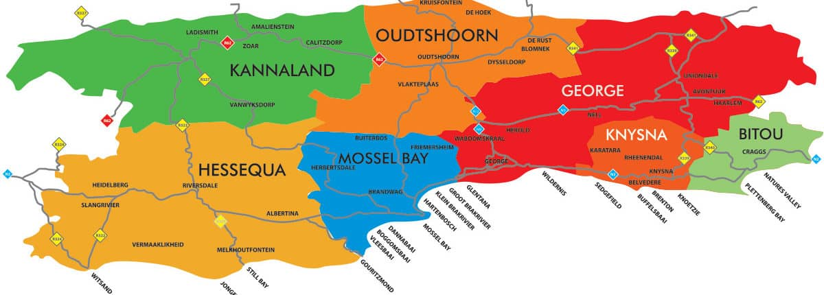 Garden Route and Klein Karoo region info Map2