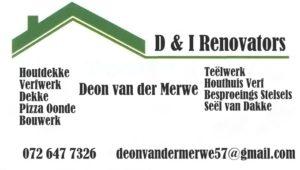 D & I Renovators / handyman