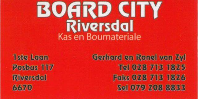 Board City Cupboard, Plumbing, Hardware & Building material . Board City hout, loodgietersbenodighede, hardeware en boumateriaal.