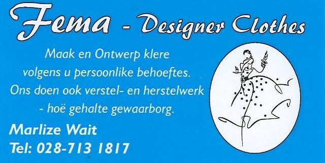 Fema Clothing Designer all designer dresses, matric farewell dresses & ball gowns.