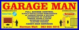 Garage Man Supply, installation & maintenance of garage doors.