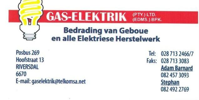Gas Elektrik Stilbaai - Riversdale