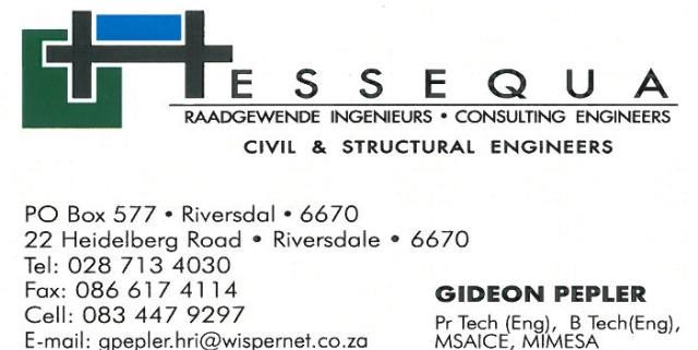 Hessequa Consulting Engineers Civil Engineers and Structural Engineers, Concrete Structures, Building Engineering planning