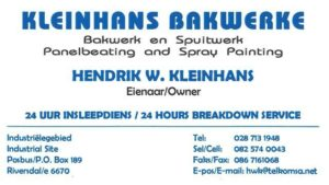 Kleinhans Bakwerke / Panelbeaters