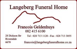 Langeberg Begrafnisdienste of Begragnisondernemers