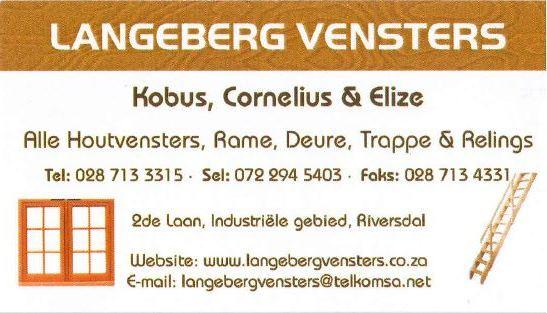 Langeberg Wooden windows & doors