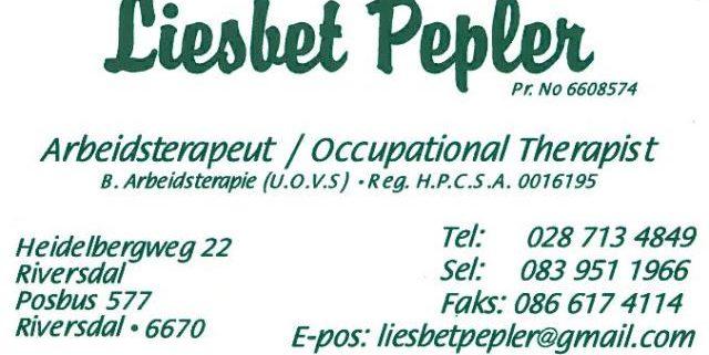 Liesbet Pepler Arbeidsterapeut