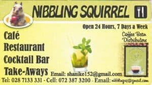 Nibbling Squirrel Café, Restaurant, Bar and Take Aways