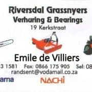 Riversdal Grassnyers / Lawnmowers, garden equipment, safety equipment & tool hire