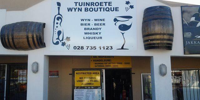 Tuinroete Wyn Boutique / Wine Boutique at Engen Garage Albertinia