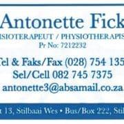 Antonette Fick (Fisioterapeut, Physiotherapist)