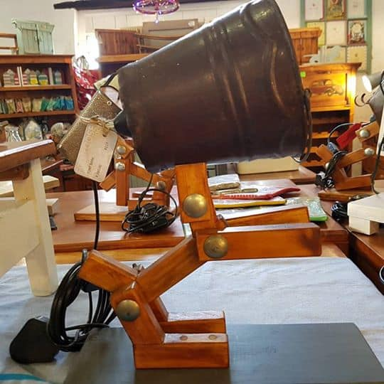 Footloose Inc Wood Crafted Lamps