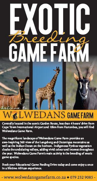 Wolwedans Game Farm Exotic Animal Breeders